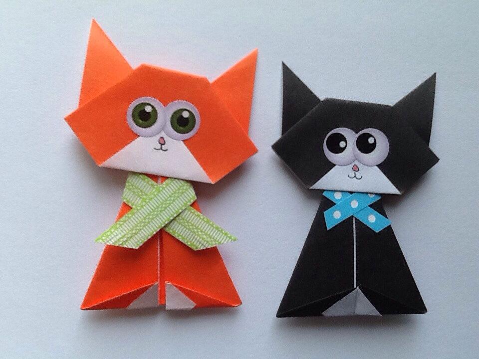 всех кот оригами картинка света